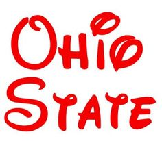 Ohio State Buckeyes Disney Inspired Decal by PeachTeaMonograms