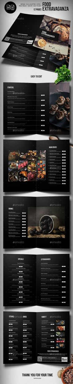 This PSD templates's perfectly Suitable for Restaurant, Catering, Grill bar etc. Easy to edit, fully adobe Photoshop format. 12 PAGES DESIGN. search tag: #Multipurpose Extravaganza #Food #Menu - 12 pgs - #A4 & #US #Letter - Food Menus Print #Templates #restaurantdesign