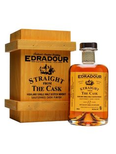 Edradour 2000 / 12 Year Old / Sauternes Finish : Buy Online - The Whisky Exchange - A 12 year old Edradour, distilled on 30th June 2000, matured in a hogshead until 29th October 2008, moved to a Sauternes hogshead and then further matured until bottling on 21st November 2012.