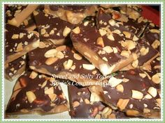 Rosie's Country Baking: Dark Chocolate and Peanut Sweet and Salty Toffee