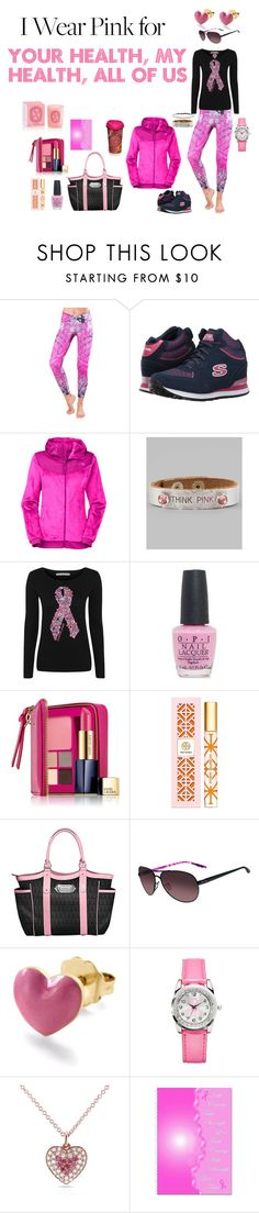 """I Wear Pink For All Of Us"" by canoe-communicationsblog ❤ liked on Polyvore featuring Activefit, BOBS from Skechers, The North Face, Ash & Ash, George, OPI, Estée Lauder, Tory Burch, The Bradford Exchange and Oakley"