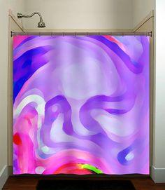 dali depression lavender lilac purple shower curtain bathroom decor fabric kids bath window curtains panels valance bathmat