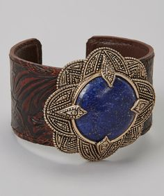 Take a look at this Lapis & Leather Cuff on zulily today!