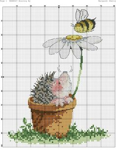 Cross-stitch Hedgehog with a Christmas Star. Cross Stitch Bookmarks, Cute Cross Stitch, Cross Stitch Flowers, Cross Stitch Designs, Cross Stitch Patterns, Hedgehog Cross Stitch, Cross Stitch Animals, Cross Stitching, Cross Stitch Embroidery