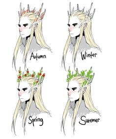 Thranduil changing according to the season  his crown like a sawsbuck.