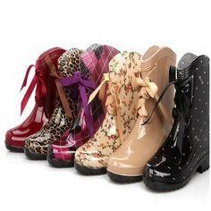 official photos c6a6c 59de1 16.83  2015 moda botas de lluvia impermeable pisos de goma Rainboots  mujeres botas de lluvia botas zapatos de agua mujer 6 colores DX90 en  Botines de ...