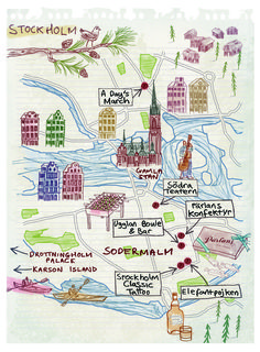 Stockholm map by Robert Littleford