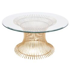 Worlds Away Powell Gold Leaf Coffee Table