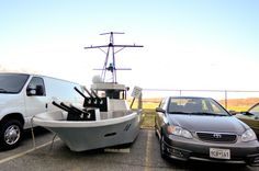 """""""Boat"""" in the parting lot of the US Naval Academy"""
