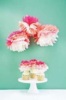 DIY Ombre Paper Pompoms (BridesMagazine.co.uk) (BridesMagazine.co.uk)