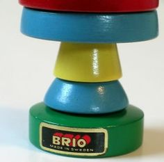 BRIO Thisvintage Brio wooden stack toy is in nice condition but not perfect. There are 9 stacking pieces, all very bright and clean. Stacking Toys, Brio, Stamp Making, Sweden, Ms, Rabbit, Bunny, Cleaning, Nice