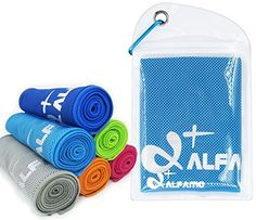 Cooling Towel for Instant Relief  40 Long As Scarf  XL Ultra Soft Breathable Mesh Yoga Towel  Keep Cool for Running Biking Hiking Golf  All Other Sports Waterproof Bag Packaging with Carabiner ** For more information, visit image link.Note:It is affiliate link to Amazon.