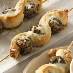 Meatball and breadstick sub skewers, easy and fun for all ages