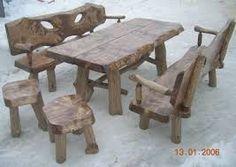 Znalezione obrazy dla zapytania meble ogrodowe z drewna litego Dining Table, Rustic, Furniture, Home Decor, Country Primitive, Decoration Home, Room Decor, Dinner Table, Retro