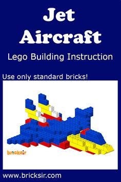 Jet Aircraft Lego Building Instructions, using only standard bricks! Available…