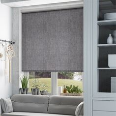 Thermal Luxe Blackout Cinder Roller Blind from Blinds 2go