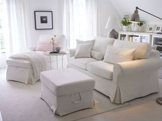 ikea white ektorp couch - Google Search