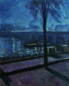 Edvard Munch La Seine à Saint-Cloud 1890