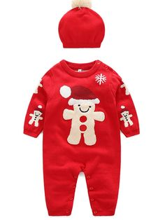 ef26bdfe76dd 2017 new style fashion christmas outfits baby's jumpsuit and hat.  #jollyhers #babyjumpsuit #