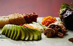 Hangawi - healthy vegetarian Korean food in Midtown NYC, would love to try the avocado stone bowl dishes