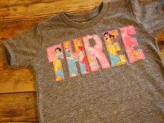 Princess Shirt Disney Princess Birthday by lilthreadzclothing