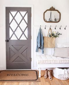 Fall Bedroom + Fall Into Home Tour – Love Grows Wild – Most Comfortable Things Home Interior, Interior And Exterior, Interior Design, Fall Bedroom, Christmas Bedroom, Bedroom Sets, First Home, Entryway Decor, Entryway Ideas