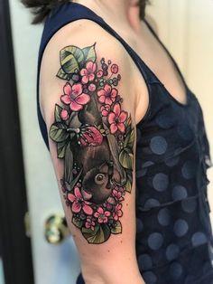 Full Back Tattoos, Full Body Tattoo, Back Tattoo Women, Sleeve Tattoos For Women, Body Art Tattoos, New Tattoos, Cover Tattoo, Arm Tattoo, Kitten Tattoo