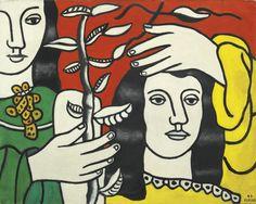 DEUX FIGURES ET UNE FLEUR, Fernand Léger