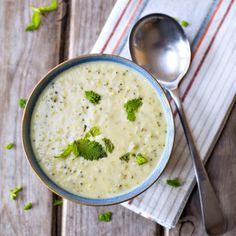 Диетический сырный суп с брокколи