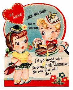 Vintage Valentine / Retro Valentines day Card