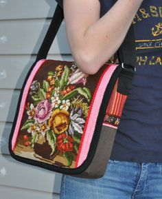 Your place to buy and sell all things handmade Handmade Handbags, Handmade Bags, Cute Purses, Purses And Bags, Fabric Embellishment, Tapestry Bag, Embroidered Bag, Altering Clothes, Tote Pattern