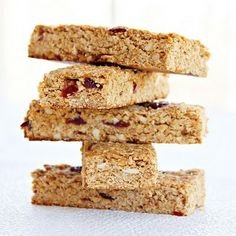 Home made granola bars using peanut butter and honey.
