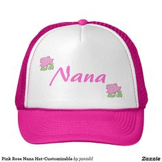a063a64f58f Pink Rose Nana Hat-Customizable Trucker Hat Otaku