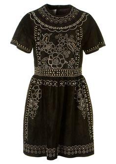 Valentino Dresses :: Valentino black studded suede dress | Montaigne Market