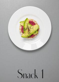 Avocado-Reiswaffel Avocado Egg, Avocado Toast, 7 Tage Detox Plan, Snacks, Sushi, Clean Eating, Breakfast, Ethnic Recipes, Bullet