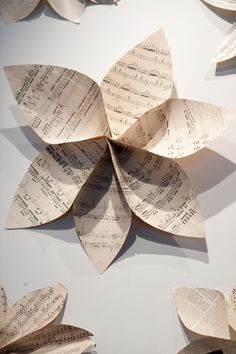 I love these! We are incorporating sheet music into our wedding and I love what I've been finding.