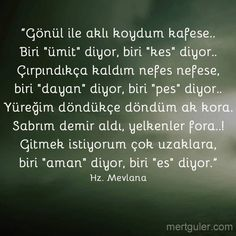 Gönül ile aşkı koydum kafese... Hz Mevlana Wise Quotes, Inspirational Quotes, Miss My Mom, Detox Juice Recipes, Writers And Poets, Story Video, Thing 1, Stephen Hawking, Favorite Words