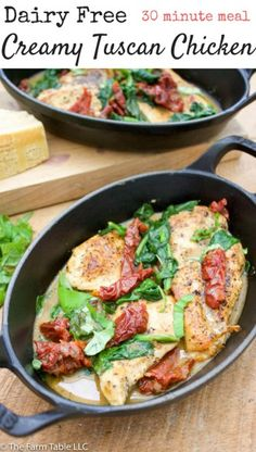 Dairy Free Tuscan Chicken is a light and healthy 30 minute meal. This lighter paleo version of the classic Italian recipe will quickly become a family favorite.