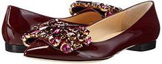 GEDEBE Women's BALLERINA KATE Ballet Flats Red Rot (BURGUNDY VERNICE) 3.5: Amazon.co.uk: Shoes & Bags