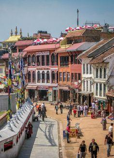 Visting the gorgeous Boudhanath Stupa in Kathmandu, Nepal.