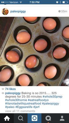 "How to bake ""hard boiled"" eggs"