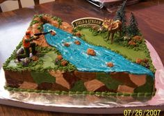 """For my child that that wants a """"hunter shooting a deer"""" for a birthday cake!"""