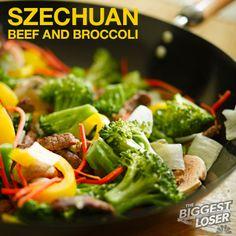 #BiggestLoser #KidFriendly #Recipe: Szechuan Beef and Broccoli (191 calories)
