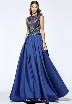 Modest and fabulous Tarik Ediz evening dress 93197 has a beaded bodice and full a line skirt.