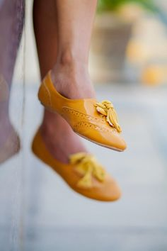 Mustard  Yellow  Oxfords