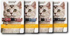 Reflective Adjustable Breakaway Nylon Cat Collars Set of ...