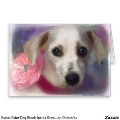 Pastel Paint Dog Blank Inside Greeting Card