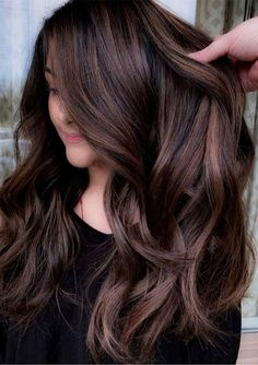 Top 30 Hair Color Trends for 2019 Brunette, color balayage brunette Ombre Hair, Brown Hair Balayage, Hair Color Balayage, Haircolor, Hair Dye, Fall Balayage, Purple Hair, Brown Balyage, Periwinkle Hair
