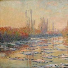 Claude Monet, Floating Ice on the Seine (1880)