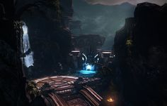 God of War: Ascension Canyon Poseidon Gate, Shane  Estanislao on ArtStation at https://www.artstation.com/artwork/god-of-war-ascension-canyon-poseidon-gate